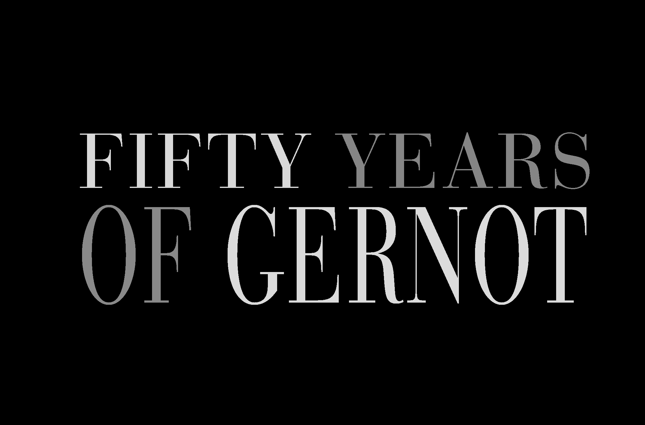 50 years of Gernot